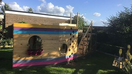 Soham grandparents Linda and Terry Skinner built their three grandchildren this pirate ship from the