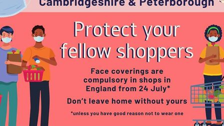 As face coverings become compulsory in shops across England from tomorrow (Friday July 24), Cambridg