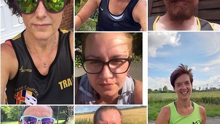 Three Counties Running Club divided into five teams to take part in a virtual version of the Round N