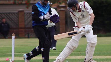 March Town were bowled out for 112 against St Ives and Warboys before rain abandoned play. Picture: