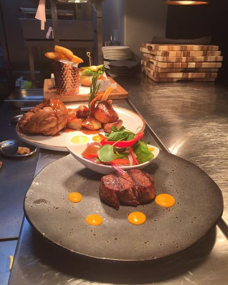 Some of the food at The Vine Bar and Grill in Great Bardfield. Picture: The Vine