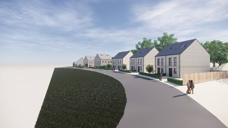 Homes with associated parking and amenity space and retention of existing offices on site | Car Park