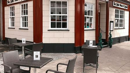 The Exchange, March, one of those tea rooms and restaurants to be allowed outdoor seating. They are