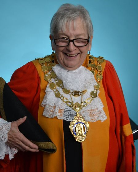 Councillor Sue Austen was confirmed as the Right Worshipful Mayor of the City of Ely following the M