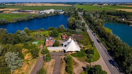 Aerial photo of Mepal Outdoor Centre. Picture; TERRY HARRIS