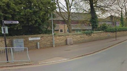 A male cyclist in his 50s was cycling along a roundabout at the A603 junction with Barton Road, when