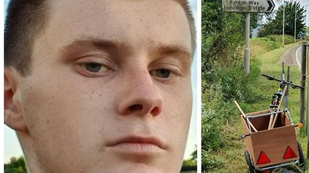 Joseph Beer (left) has been cleaning road signs and tidying overgrown hedges in and around Chatteris