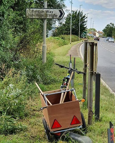 Joseph Beer has been cleaning road signs and tidying overgrown hedges in and around Chatteris after