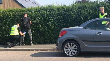 Man being arrested following burglaries in Manea and Friday Bridge. Picture: Ben Thomas