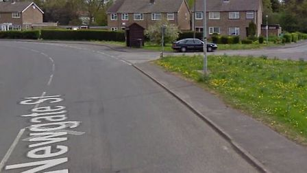 A dog walker was targeted in a hit and run in Doddington that resulted in the alleged vehicle - a bl
