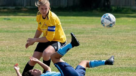 March Town Ladies romped to a comfortable victory over Brampton Ladies in their pre-season opener on
