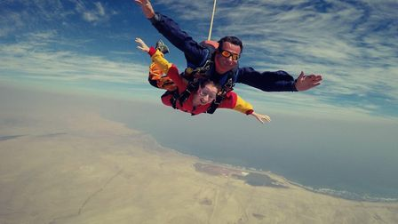 Seven volunteers will be jumping from 10,000 feet at the North London Skydiving Centre in Wimblingto