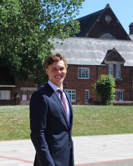 Felsted School Head Boy Oliver Butler from Chelmsford. Picture: Felsted School