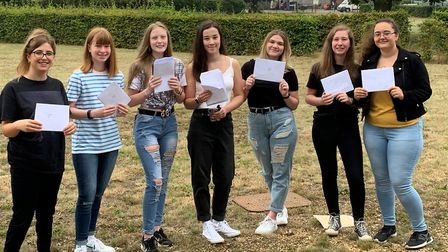 Students at Neale-Wade Academy in March collecting their grades. Picture: NEALE-WADE ACADEMY