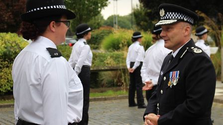 Cambridgeshire police welcomed 18 new recruits at their passing out ceremony in Huntingdon. Picture:
