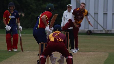 Alex Millard recorded figures of 2-22 for March against Wisbech. Picture: DAN MASON