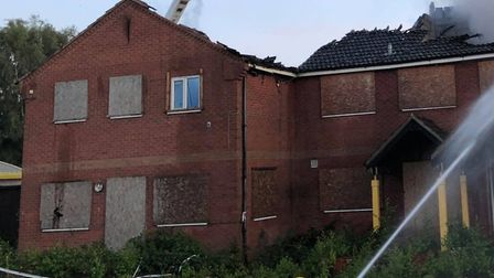Five crews of firefighters were called to a fire on the site of the Mepal Outdoor Centre. Pictures: