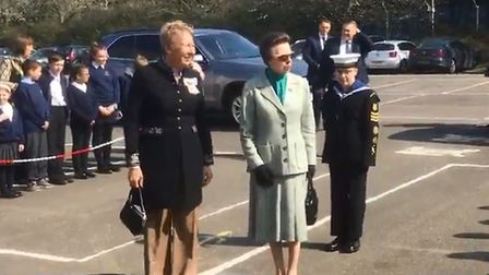 Her Royal Highness Princess Anne at Metalcraft in Chatteris to speak to apprentices. Picture: Ben Jo