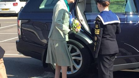 Her Royal Highness Princess Anne at Metalcraft in Chatteris. Picture: Ben Jolley