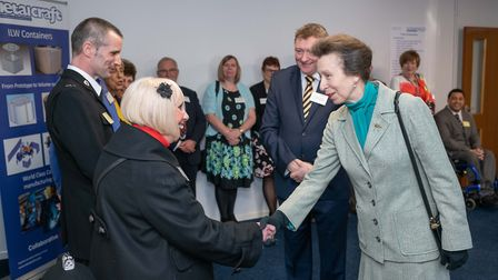 HRH Princess Anne made a royal visit to meet apprentices and unveil a plaque at Stainless Metalcraft