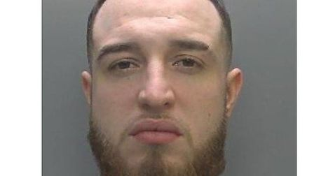 Shiriffe Walker, 24, of Sutton has been jailed for beating up and threatening to kill his partner. P