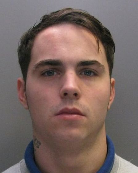 Clumsy criminal Andrew Yallop, of Huntingdon lost his balance and fell onto a nearby car, touching