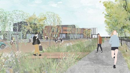 An artist's impression of the new Horizon Hub business park at Great Notley. Picture: Braintree Dist