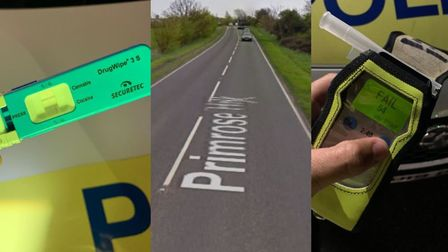 A driver who was arrested at 1.30am for being twice the legal alcohol limit and tested positive for