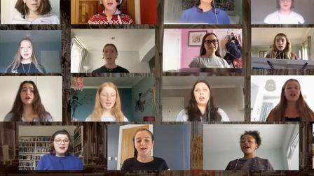 Ely Cathedral choristers came together - virtually - to record two lockdown songs. Members of both t