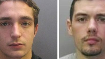 Custody photos of Charlie Oakley (right) and Timothy Stone-Parker. Both men are on the run after esc