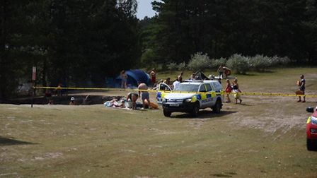 The search for Kristers Bednarskis at Bawsey Pits Country Park near King's Lynn. Picture: Ian Burt P
