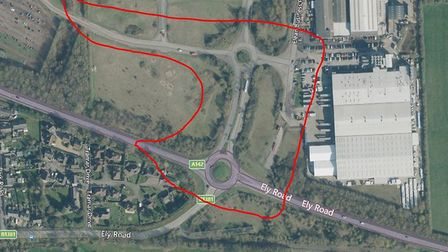 Elean Business Park, Sutton, with the red lines showing the area covered by a dispersal order author