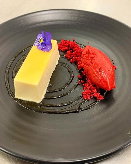 The lemon parfait dish from the menu at The Old Hall, near Ely. Pictures: The Old Hall