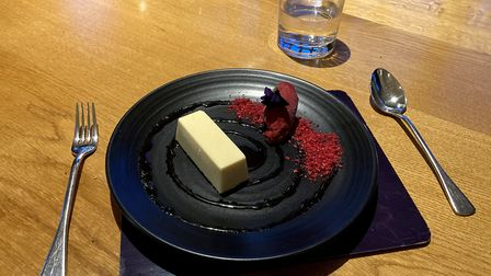 Lemon parfait dessert served at The Old Hall, near Ely. Pictures: Louise Hepburn