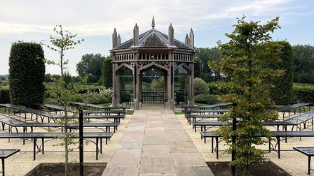Outside wedding area at The Old Hall, near Ely. Pictures: Louise Hepburn