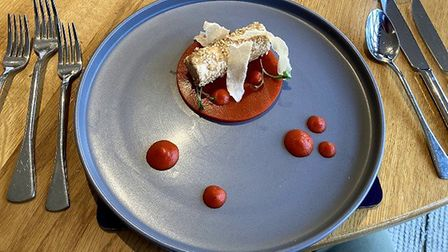 The chicken ballotine started at The Old Hall, near Ely. Pictures: Louise Hepburn