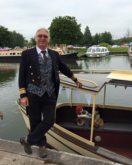 Bob Todd stood proudly with the Liberty Belle. Picture: Supplied/Facebook