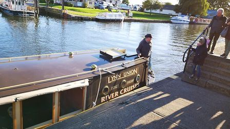 Liberty Belle docking at the Ely riverside base. Picture: Supplied/Facebook
