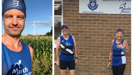 Runners from March Athletic Club braved the soaring temperatures to complete the Graysmoor 10k throu