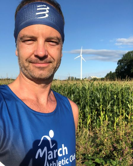 Tim Brammer running for March Athletic Club. Picture: MARCH ATHLETIC CLUB