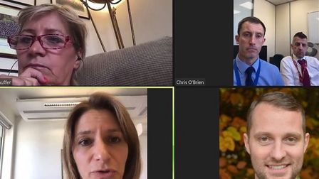 MP Lucy Frazer met virtually with councillors Julia Huffer and Joshua Schumann together with Chris O