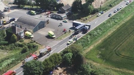 A pre-inquest review into the deaths of two men after a collision between a bus and a lorry on the A