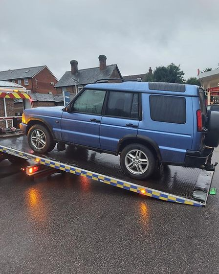 The Rural Engagement Team have seized vehicles connected to illegal hare coursing activities. Pictur
