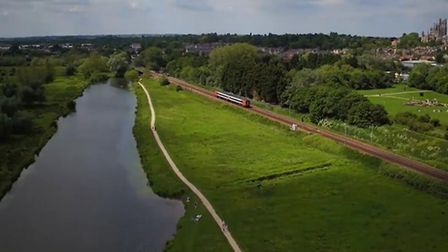 Railway line through Ely (looking south) Picture; NETWORK RAIL