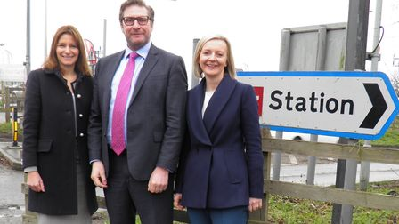 MPs Liz Truss and Lucy Frazer were in Ely to promote efforts to speed up improvements to the Ely Nor