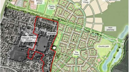The site for 57 homes is off Lynn Road, and forms part of the former MoD site bought by the council
