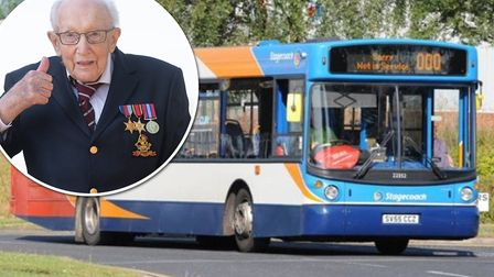 The change left over from bus ticket sales across the region has raised more than 11,000 for The Cap