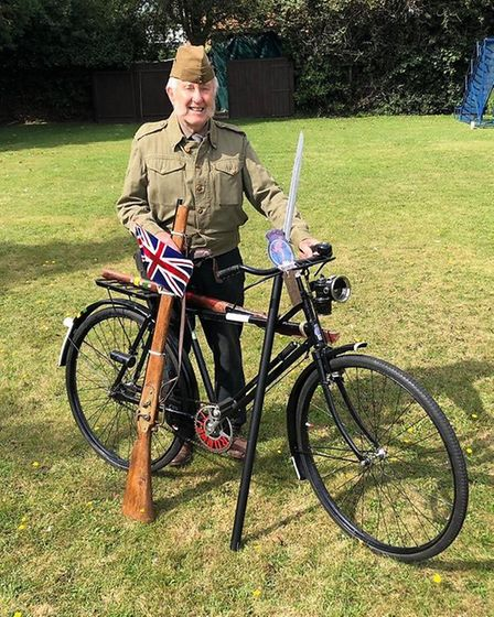 Colin Bedford, 84, from March is taking part in a sponsored cycle ride on a variety of vintage bikes