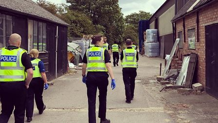 Six men were believed to have been living in poor and cramped conditions after Cambs Police visited