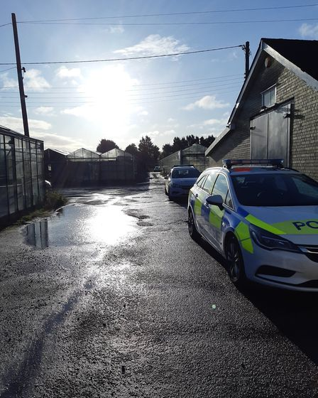 Police visited a suspected modern slavery nursery in Kneesworth and found five Vietnamese men living
